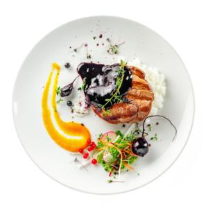 assiette legume veau riz Harry Traiteur Paris traiteur événement catering paris Bourget